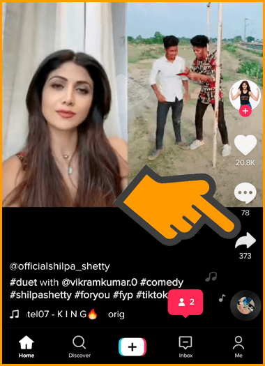 Tap on Share Button to Get Video Link