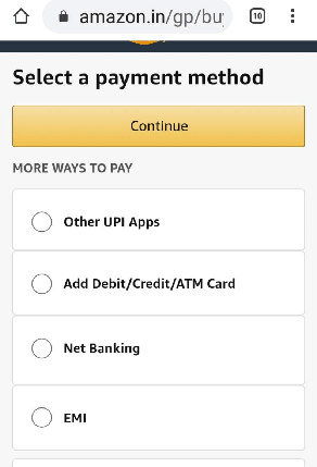 Amazon Payment Methods
