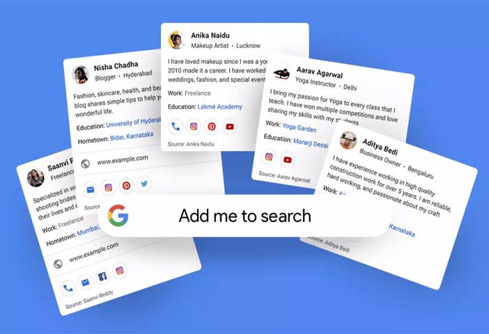 Google Add Me to Search Kya Hai