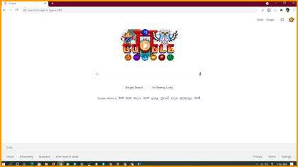 Chrome Browser Homepage