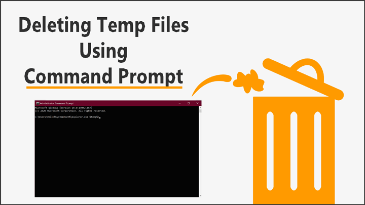 Command Prompt se Temp Files Delete Kaise Kare