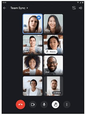 Google Meet Video Calling Screen