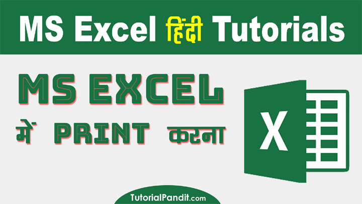 How to Print Excel Workbook in Hindi