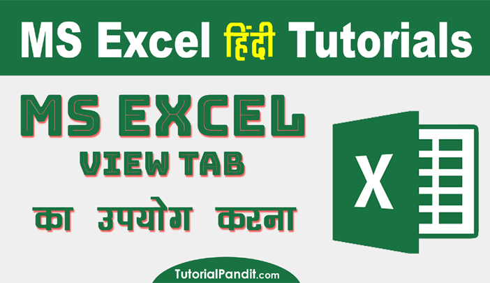Using Excel View Tab in Hindi